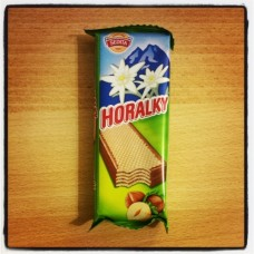Horalky, hazelnut cream filling
