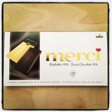 Merci Dark chocolate 72%, 100g